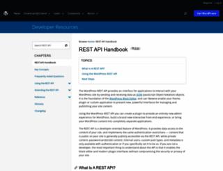 v2.wp-api.org screenshot