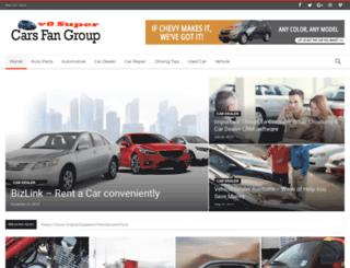 v8supercarsfangroup.com screenshot