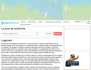 vacances-immobilier.com screenshot