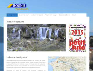 vacancesbosnie.com screenshot