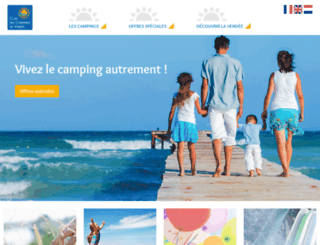vacancescampingvendee.com screenshot