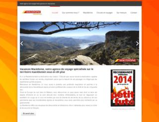 vacancesmacedoine.com screenshot