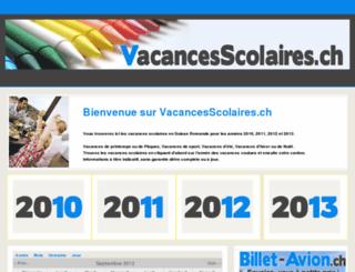 vacancesscolaires.ch screenshot