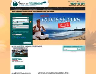 vacancesthalasso.com screenshot