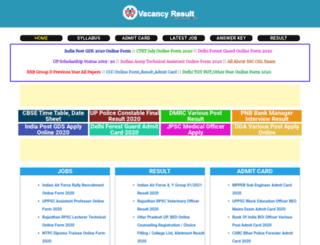 vacancyresult.in screenshot