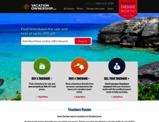 vacationownership.com screenshot