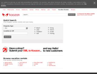 vacationrentals.koozon.co.uk screenshot