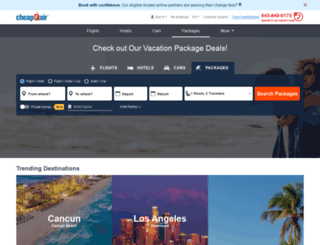 vacations.cheapoair.com screenshot