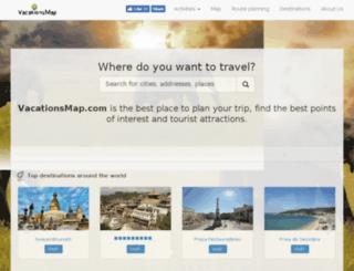 vacationsmap.com screenshot