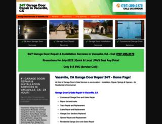 vacavillecagaragedoorrepair.com screenshot