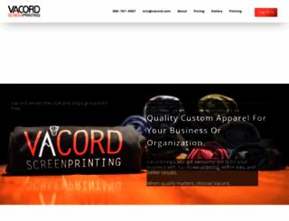 vacordscreenprinting.com screenshot
