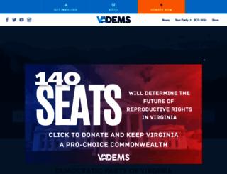 vademocrats.org screenshot