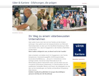 vaeter-und-karriere.de screenshot