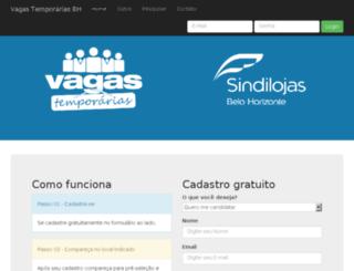 vagastemporariasbh.com.br screenshot