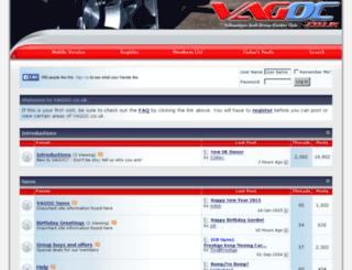 vagoc.co.uk screenshot