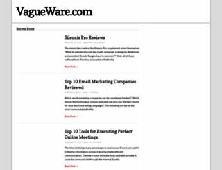 vagueware.com screenshot