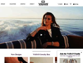 vahanjewelry.com screenshot