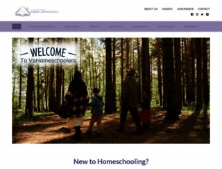 vahomeschoolers.org screenshot