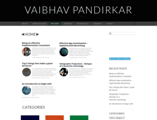 vaibhavpandirkar.wordpress.com screenshot