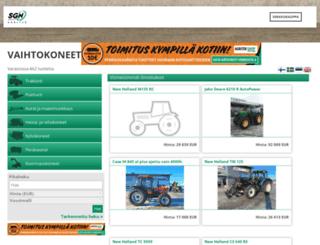 vaihtokoneet.agritek.fi screenshot