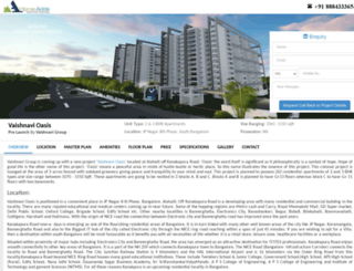 vaishnavioasis.location-price-bangalore.com screenshot