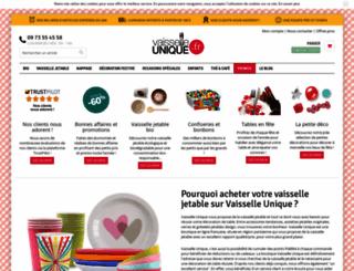 vaisselle-unique.fr screenshot