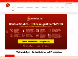 vajiramandravi.com screenshot