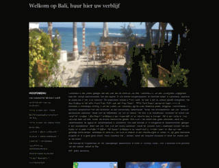 vakantiehuisjetehuurbali.nl screenshot