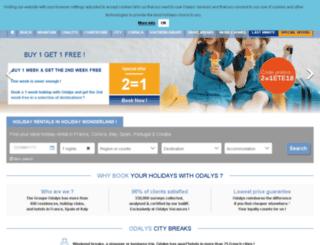 vakantiehuizen-odalys.com screenshot
