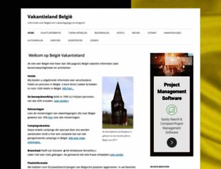 vakantielandbelgie.nl screenshot