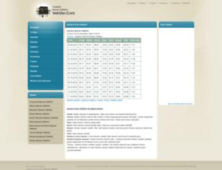 vakitler.com screenshot