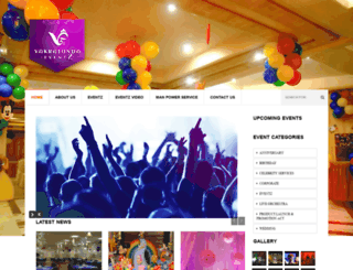 vakratundaeventz.com screenshot