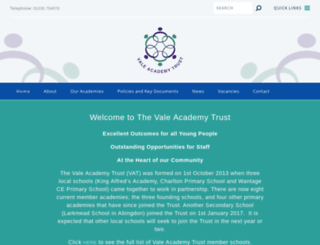 vale-academy.org screenshot
