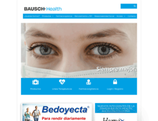 valeant.com.mx screenshot