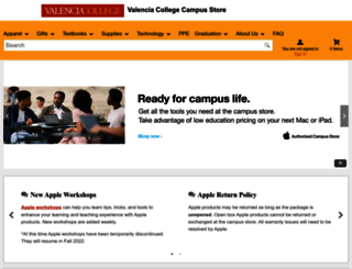 valenciabookstores.com screenshot