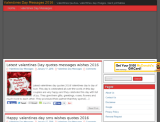 valentinesday2016messages.com screenshot