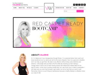 valeriewaters.com screenshot