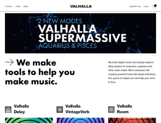 valhalladsp.com screenshot