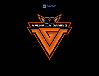 valhallagaming.net screenshot
