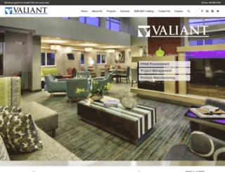 valiantproducts.com screenshot
