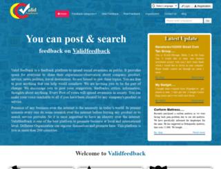 validfeedback.com screenshot