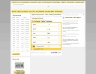 valiutos.tv3.lt screenshot