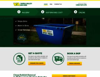 valleybinhire.com.au screenshot