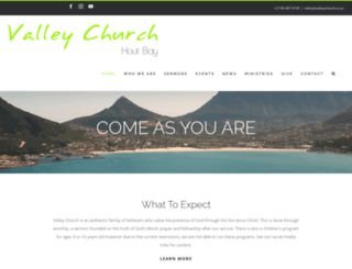valleychurch.co.za screenshot