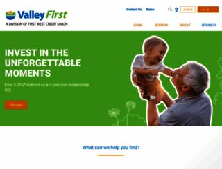 valleyfirst.com screenshot