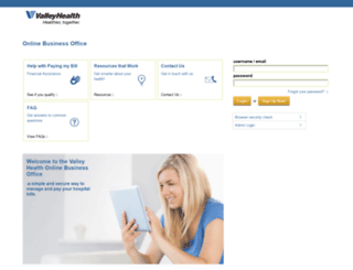 valleyhealthlink.patientsimple.com screenshot