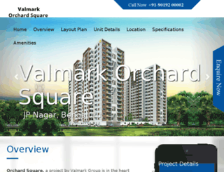 valmark-orchardsquare.call-now.co.in screenshot