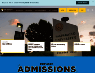 valpo.edu screenshot