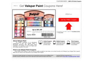 valsparpaint.couponrocker.com screenshot