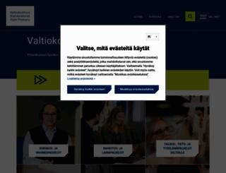 valtiokonttori.fi screenshot